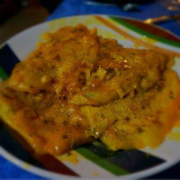 Filetti di Platessa all'Arancia濃厚オレンジソースが食欲をそそる白身魚ムニエル