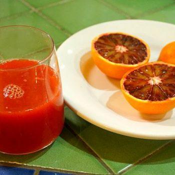 「血」のような色のブラッド・オレンジにびっくり。