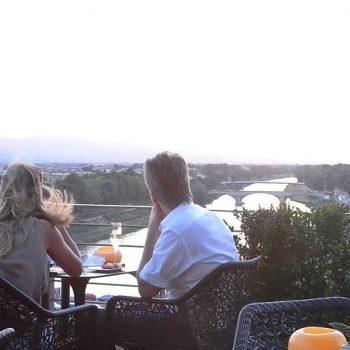 ピンクの夕焼け♡フィレンツェでロマンチックディナーならここ!