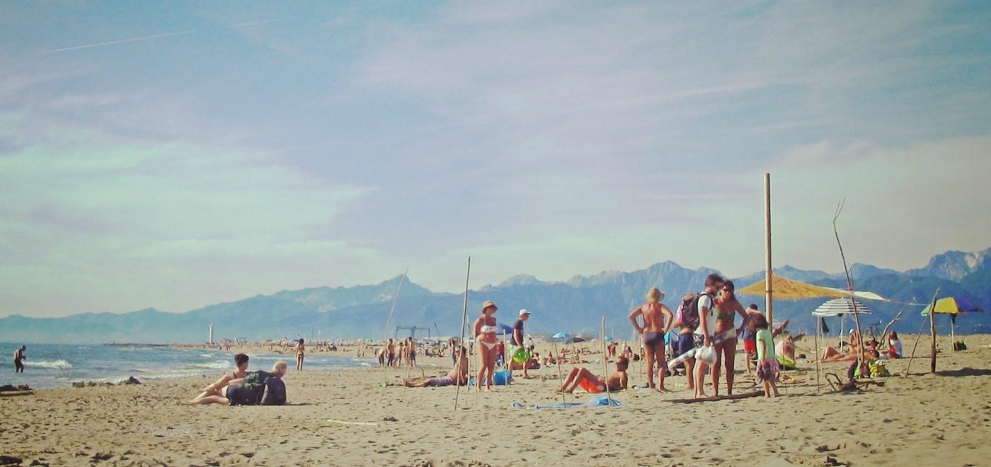 トスカーナの海、ヴィアレッジョの海水浴