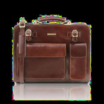 イタリア製ベジタブルタンニンレザーのビジネスバッグ