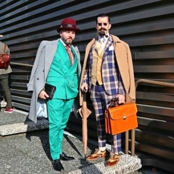 ピッティウオモ93回、2018年1月イタリアで撮影!バッグコーディネート(メンズ篇)2