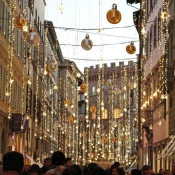 年末のフィレンツェ。皆様、BUON ANNO(良いお年を)!