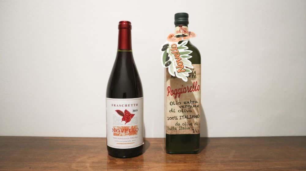 イタリアの新ワインと新オリーブオイル