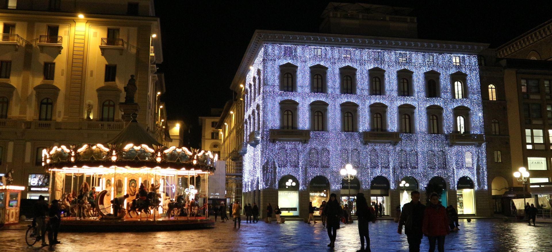 フィレンツェのクリスマスイルミネーション2