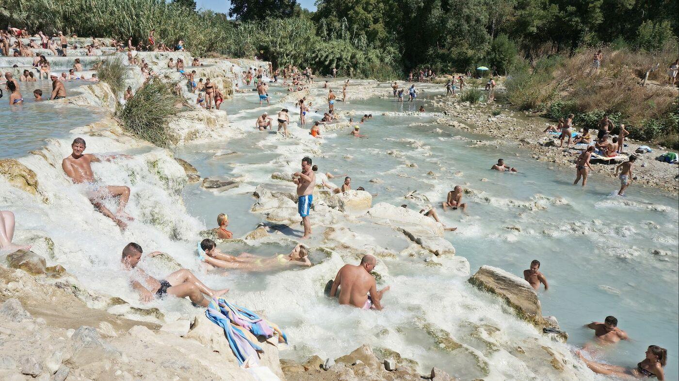 トスカーナで温泉三昧、サトゥルニア温泉