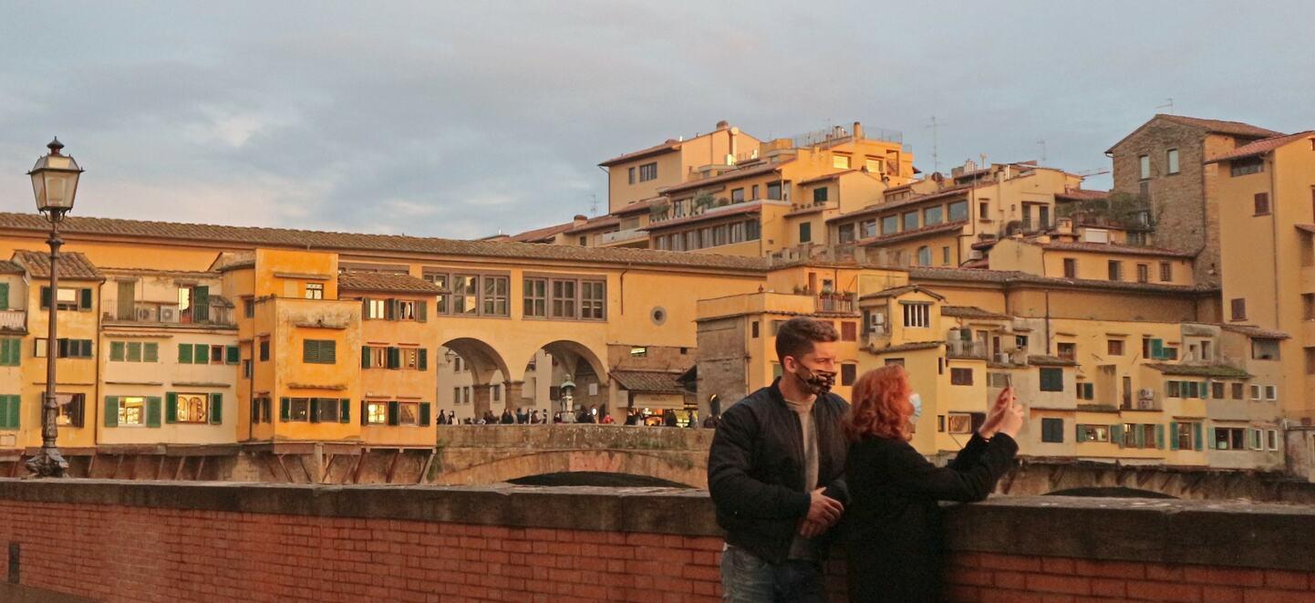 コロナ禍による二度目のロックダウン中のフィレンツェ (1)
