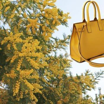 「ミモザの日」にちなんだ黄色いバッグ特集