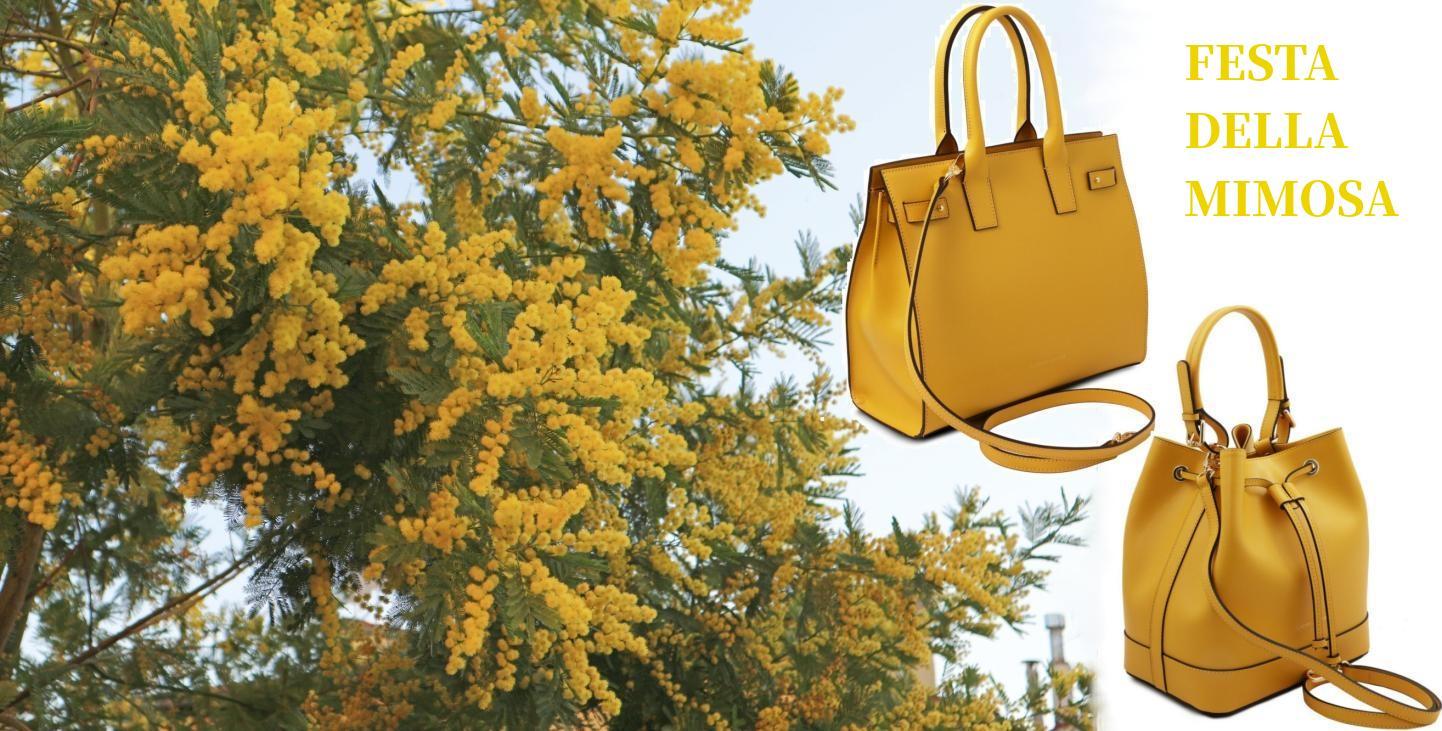 ミモザのような黄色いバッグ_イタリアのミモザの日_amicamakoオンラインショップ