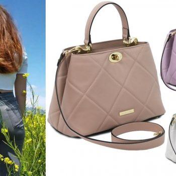 【イタリア新作】デイリーにもフォーマルにも使えるキルティング2WAYハンドバッグ